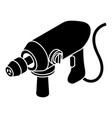 big corded drill icon simple style vector image