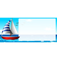Border design with sailboat vector image