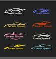 car icon modern automotive logo automobile vector image