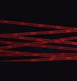 danger tape in dark background vector image