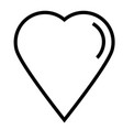 favorite heart like love valentine icon vector image