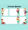 fun frames kids layout texting brochure vector image
