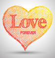 Heart love forever texture canvas paper vector image