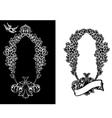 royal ornate wreath vector image