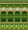 silk green ornament vector image