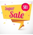 Super sale origami banner vector image