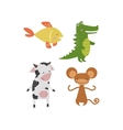 Cute animals character vector image