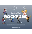 Concerts and events rockband banner vector image