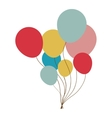 party balloons icon image vector image