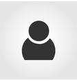 User man icon flat design vector image vector image