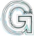 Font letter G vector image vector image
