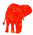 Indian elephant silhouette vector image vector image