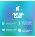 Dental care simple infographics vector image vector image