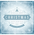 Christmas retro typography and light vector image