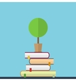 Flat of educaton concept Books with vector image