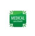 logo medical vector image vector image