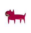 an angry cartoon dog pit bull icon vector image