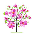 blooming colorful tree vector image