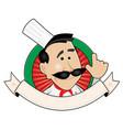 chef restaurant banner vector image