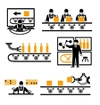 Factory production process icons vector image