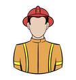 fireman icon cartoon vector image