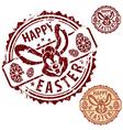 grunge easter stamps vector image
