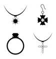 jewelry and accessories icon set vector image