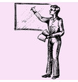 teacher near blackboard vector image
