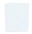 Three blank sheets of paper sheet vector image vector image