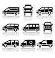Set of transport icons - Van vector image vector image