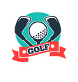 golf club or golfer country sport team icon vector image vector image