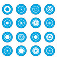 camera shutter icon blue vector image