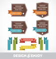 Set of stickers and ribbons vector image