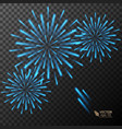 abstract golden fireworks explosion on transparent vector image