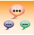 Glossy speech bubble icons vector image