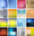 Colorful Smooth Background Set vector image