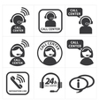 icon set call center vector image