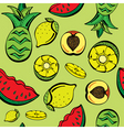 tropical fruits print vector image