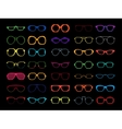 set of colored glasses Retro geek vector image