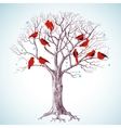 birds tree vector image vector image