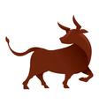 Bull gradient vector image vector image