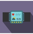 Smartwatch icon in flat style vector image
