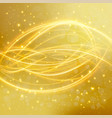 abstract golden background with laser line vector image