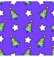 Christmas tree and stars vector image