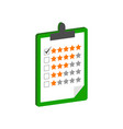 clipboard with rating symbol flat isometric icon vector image