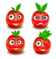 Fruit icons with emotions vector image