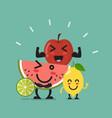 healthy food emoji characters vector image