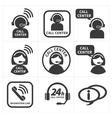 icon set call center vector image