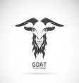 Image of a goat head design vector image