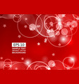 red abstract circle and wave background vector image